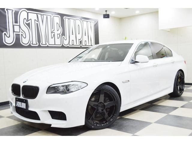 BMW 528i 新品20AW M5タイプエアロ 黒革 社外マフラー