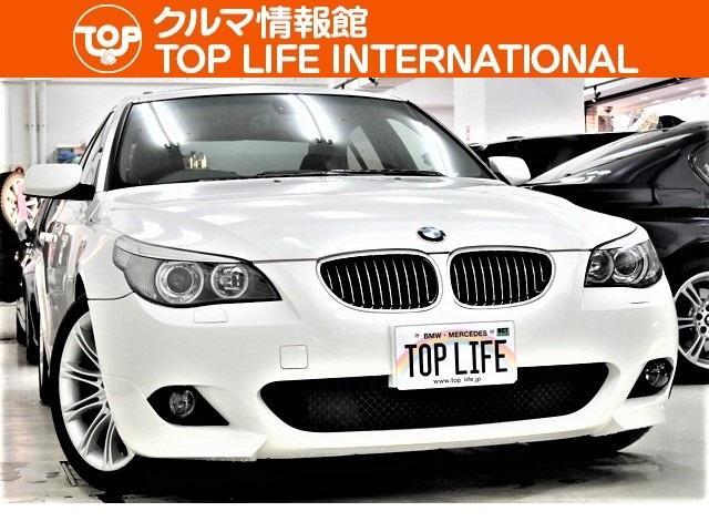 BMW 530iMスポーツPKG黒半革サンルーフHDDナビフルエアロ