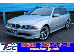 BMW525iツーリング黒革シートサンルーフ純正ナビバックカメラ