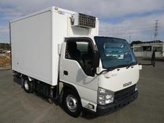 エルフトラック冷蔵冷凍車 中温 フラットロー 横扉スライド式