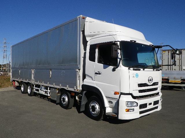 UDトラックス エアーロールシステム4列 リヤエアサス アルミウイング