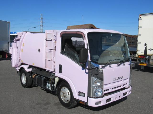 いすゞ エルフトラック 塵芥車 極東 回転板式 容積4.1m3 連続スイッチ