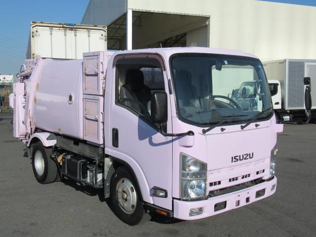 いすゞ エルフトラック 極東製 回転板式 塵芥車 容積4.1m3