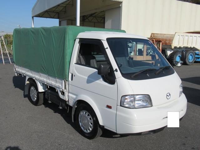 マツダ ボンゴトラック  スチールボデー   3方開タイプ   幌付平ボデー   ガソリン車   シングルタイヤ