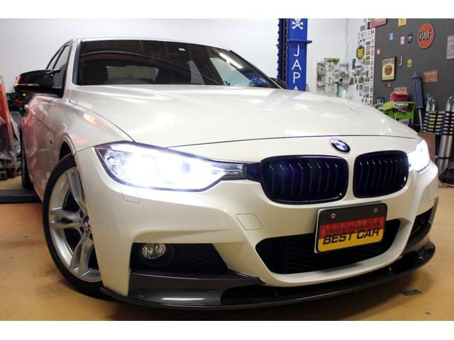 BMW 3シリーズ 320dブルーパフォーマンス Mスポーツ 新品Mサイドミラ 新品Mパフォーマンス型フロントリップ 新品Gタイプキドニーグリル ビルシュタイン車高調