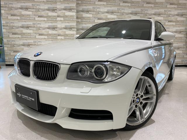 BMW 1シリーズ 135i Mスポーツ/タイヤ新品交換済/6速マニュアル/禁煙/サンルーフ/純正ナビ/黒革/シートヒーター/電動シート/クルコン/HIDオートライト/キーレス/純正18インチアルミ/記録簿H22〜R2迄1年毎