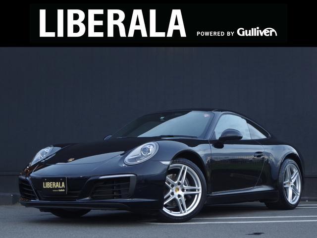 ポルシェ 911カレラ 19AW 黒革 GTスポステ SDナビ Bカメラ HIDライト フルセグTV DVD再生 Bluetooth パドルシフト 前席シートヒーター