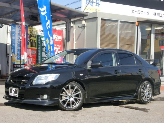 トヨタ カローラアクシオ GT ターボ 5速マニュアル TRDエアロ・グリル・17インチAW リアスポ RS-R車高調 RECAROセミバケ HDDナビ TV ETC