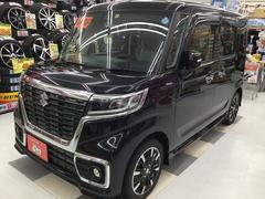 スペーシアカスタムハイブリッドXSターボ4WD 新品SDナビ フルセグTV