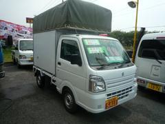 キャリイトラック幌高2・4mエアコン パワステ オリジナル荷箱
