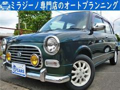 ミラジーノミニライトグリル 新品タイヤ 黒革調シートカバー ナビ