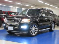 フォード エクスプローラーリミテッド ディーラー車 サンルーフ 黒革シート HDDナビ