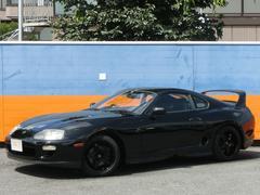 スープラ純正5速MT 純正黒塗装 スパルコ17AW フジツボマフラ−
