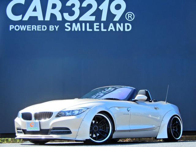 BMW Z4 sDrive23iスタイルエッセンス 電動オ-プン XYZ車高調 ワ-クエモ-ション18AW オ-バ-フェンダ- パドルシフト スマ-トキ- Pスタ-ト ETC HID
