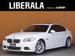 BMW523iMスポーツ サンルーフ 黒革シート 純正ナビTV