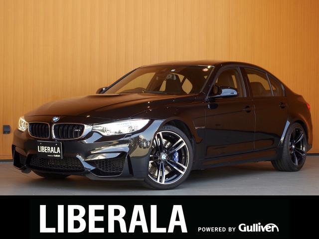 BMW M3 M3 M DCT ドライブロジック カーボンルーフ ヘッドアップディスプレイ 黒革シート 衝突軽減Bレーンキープ 純正ナビTV Bカメラ アダプティブLED パークディスタンス クルコン パワーシート/ヒーター 純正19AW ETC