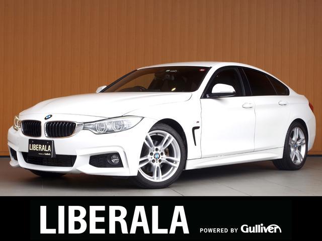 BMW 420iグランクーペ Mスポーツ 衝突軽減B レーンデパーチャーW アダプティブLED 純ナビ フルセグTV Bカメラパワーバックドア コンフォートアクセス パワーシート パークディスタンス クルコン アイドリングストップ