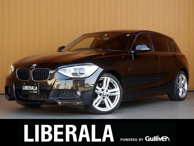 BMW 116i Mスポーツ 純正ナビ 純正OP18incAW プッシュスタート   バイキセノンライト ETCドライブセレクト CD/DVD/MSV/BT/USB/AUX