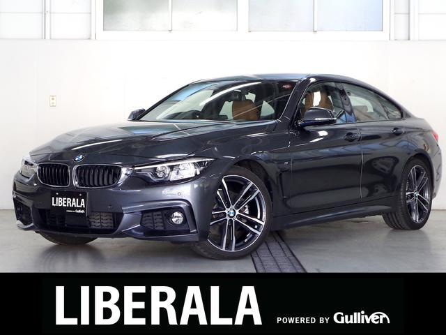 BMW 420iグランクーペ Mスポーツ 後期 ブラウンレザー OP19AW ACC 衝突軽減B レーンデパーチャー/チェンジW 純ナビTV Bカメラ パワーシート/ヒーター マルチディスプレイメーター アダプティブLED コンフォートA
