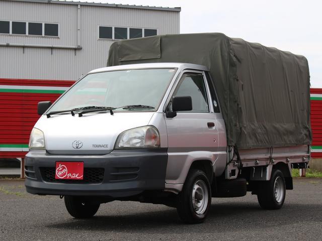 トヨタ タウンエーストラック DX 三方開きホロ エアコン付き 3人乗り 5速MT車