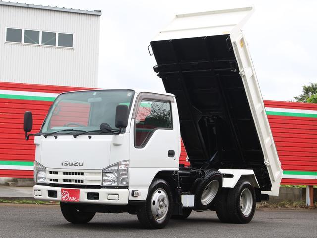 いすゞ エルフトラック 三転強化ダンプ 2トン積  4ナンバーべース  坂道発進補助 コボレーン ETC