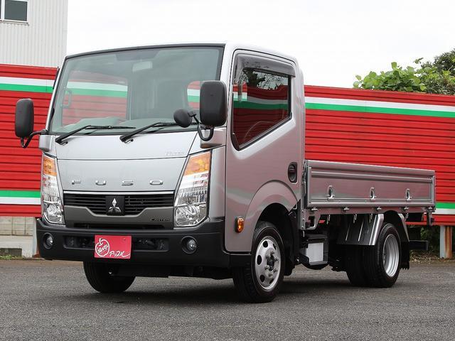 三菱ふそう  4WD 1.4t積み フルスーパーロー 3ペダル&5MT 10尺 3方開 坂道発進補助装置(EHS) 左電動格納ミラー ヒータードアミラー Bluetooth対応ナビ ETC フォグライト キーレス
