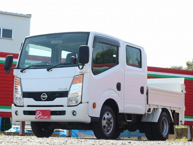 日産 WキャブスーパーローDX 1.15t 垂直パワーゲート 昇降能力600キロ 後輪Wタイヤ 左電動格納ミラー リフト寸70-158高さ83 最大積載量1150キロ 車両総重量3470キロ