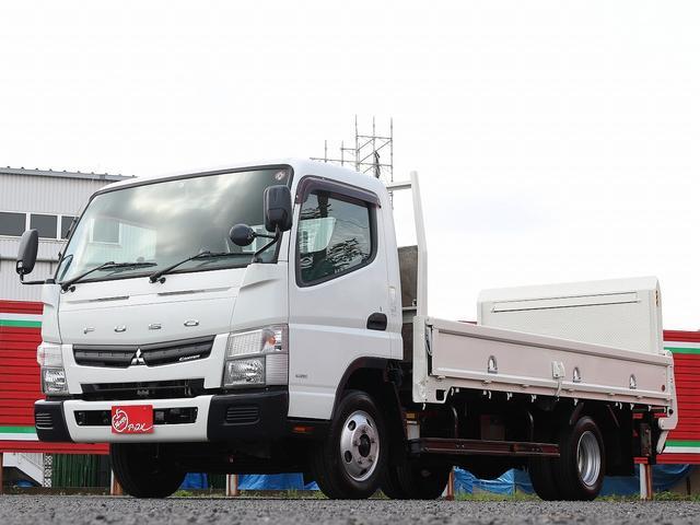 三菱ふそう キャンター  2000キロ積載 ワイドロング パワーゲート 昇降能力800キロ 3ペダル&5MT リフト寸109-188高さ121 バイザー&フロアマット キーレス&スペアキー ETC 車両総重量5215キロ