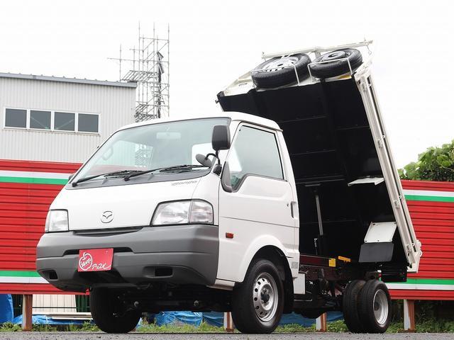 マツダ  ダンプ 4WD 1000キロ積載 3方開 新明和製ダンプ TESMA 荷台内寸212-161-20 Wエアバック スペアキー 集中ドアロック 最大積載量1000キロ 車両総重量2680キロ