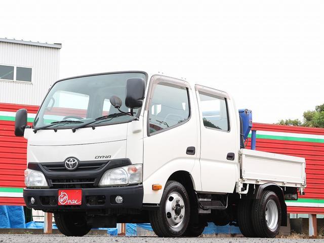 トヨタ Wキャブフルジャストロー 2000キロ積載 簡易クレーン 吊り上げ490キロ ラジコン付き タダノ ゼロハンTM-E074 荷台一部鉄板 集中ドアロック 左電格ミラー 3方開 最大積載量2000キロ 車両総重量5090キロ