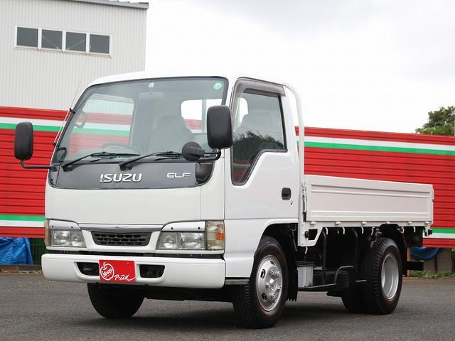 いすゞ エルフトラック  2t 平ボディ 10尺 3方開 5速マニュアル HSA坂道発進補助装置 左電動格納ミラー エアバック ABS 4800CC 荷台寸311-161-38 最大積載量2000キロ 車両総重量4685キロ