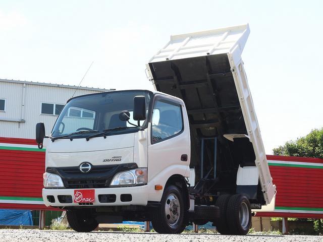 全低床強化ダンプ 4WD 2トン フルジャストロー 強化ダンプ コボレーン付 5MT リーフサス STタイヤ スペアキー ETC 新明和DR2-0110SY 最大積載量2000キロ 車両総重量5235キロ(1枚目)