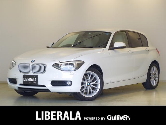 BMW 116i ファッショニスタ 純正HDDナビ バックカメラ ベージュレザーシート シートヒーター 純正17incAWコンフォートアクセス パークディスタンスコントロール アイドリングストップ プッシュスタート キセノン