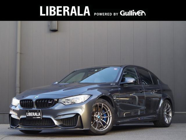 BMW M3 セダン カーボンルーフ カーボンFRスポイラー シルバーストーンレザーシート ヘッドアップD  純正iDriveナビ地デジ バックカメラ 社外テール 黒キドニーグリル インテリセーフ レーンキープ