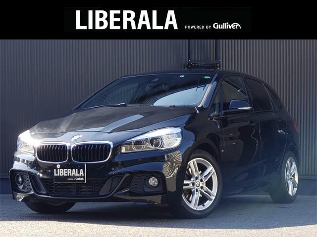 BMW 218iアクティブツアラー Mスポーツ 純正HDDナビ MSV Bluetooth CD DVD AUX USB バックカメラ ETC 社外レーダー探知機 インテリジェントセーフティ 17インチAW