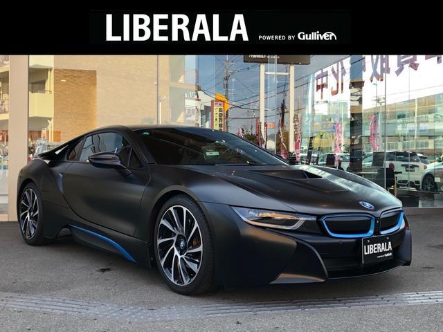 i8(BMW) ベースグレード ラッピング車(マッドブラック) インテリジェントセーフティー 純正ナビ 全方位カメラ ETC クルコン HUD 純正20インチAW 黒革シート パワーシート シートヒーター ハーマンカードン 中古車画像