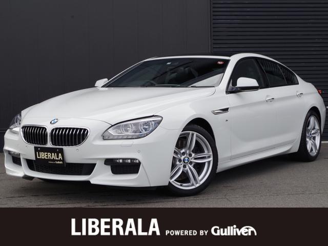 BMW 6シリーズ 640iグランクーペ Mスポーツ 衝突軽減ブレーキ 車線逸脱警告 ブラックレザーシート パノラマSR LEDヘッドライト iDriveナビ フルセグTV バックカメラ コンフォートアクセス ETC クルーズコントロール 19インチAW
