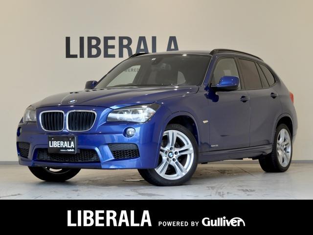 BMW X1 sDrive 18i Mスポーツパッケージ ナビ DTV/CD/AUX Bカメラ HIDヘッドライト オートライト フロント/リアフォグライト レインセンサー ルーフレール ミラービルトインETC 取扱説明書/保証書/スペアキー フロアマット