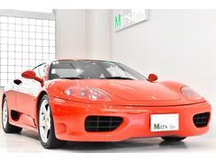 フェラーリ 360モデナF1後期型 黒革赤ステッチ Tubiマフラ 整備記録有