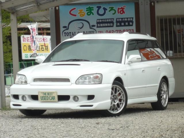 スバル レガシィツーリングワゴン GT-B Sエディション ツインターボ BBS 社外マフラー MOMOステアシフト D席パワーシート ハーフレザーシート CD・MD