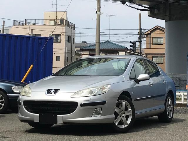 プジョー 407 スポーツ2.2 HDDナビ 黒革シート (検1.11)