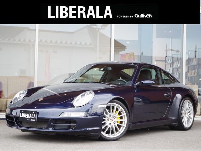 ポルシェ 911カレラ Supersprintマフラー ・社外メモリナビ・ フルセグTV・Bluetooth・黒革シート・シートヒーター・HID・バックカメラ・ETC