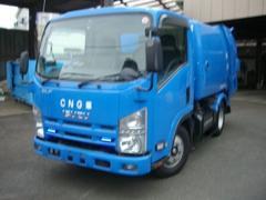 エルフトラック2トン巻込み式パッカー ダンプ排出式 CNG車