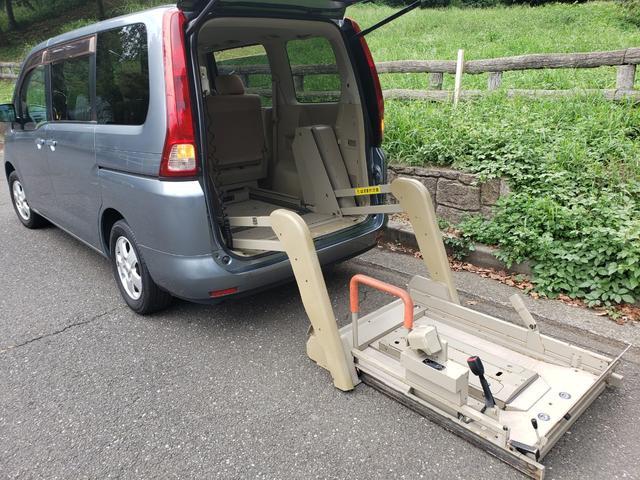 日産 車椅子リフト・リアリフター・アンシャンテ・チェアキャブ 8ナンバー・減免・非課税・車椅子リフトでストレッチャーやバイクも積載可能