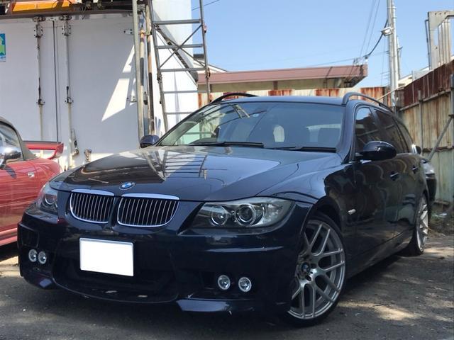 BMW 325iツーリング 黒革 サンルーフ ナビ Bカメ 19AW