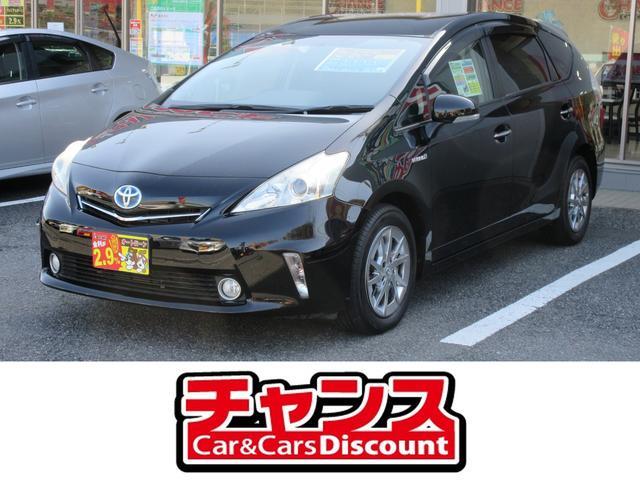 トヨタ プリウスアルファ S チューン ブラック SDナビ DVD フルセグ バックカメラ スマートキー
