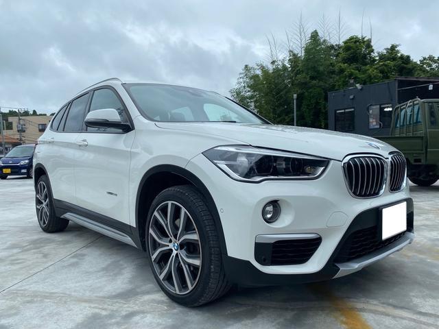 BMW X1 sDrive 18i xライン オプション19インチアルミ LEDヘッドライト ハーフレザーシート ETC バックカメラ 前後ドライブレコーダー Bluetooth接続 電動リアゲート スマートキー プリクラッシュ