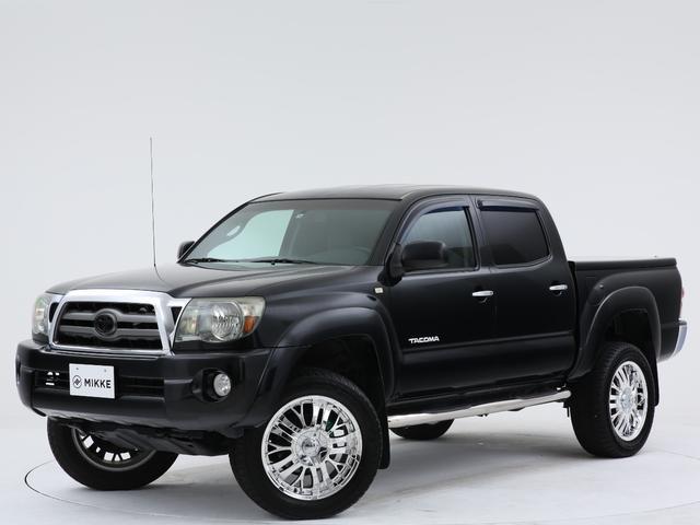 米国トヨタ タコマ ダブルキャブ 新車並行/4WD/20インチアルミ/ギブソンマフラー/3インチリフトアップ/ハードトノカバー/サイドステップ/純正アルミ有