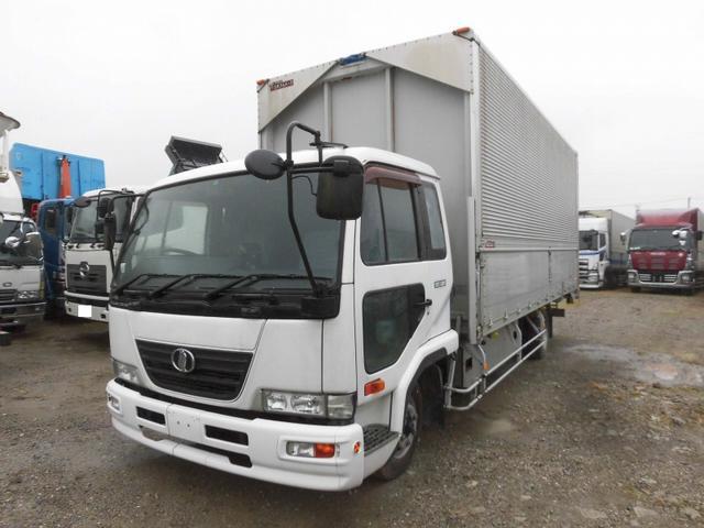 UDトラックス 4tワイド アルミウィング ジョロダー4列 CNG