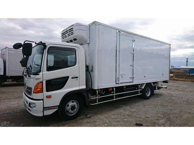日野 4t標準 冷蔵冷凍車 低温 格納パワーゲート リアエアサス